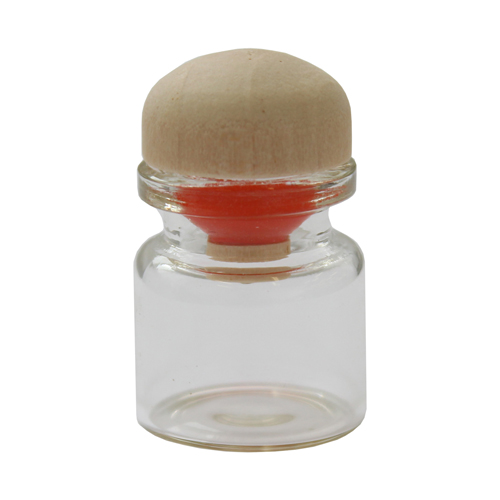 Стеклянная бутылочка с пробкой 22*25*12,5мм, 4шт/упак