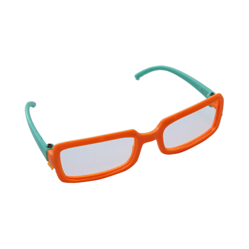 Очки пластиковые, цв. оранжево-зеленый 8*2см, 5шт/упак
