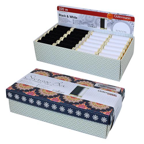 799724 Дисплей для швейных нитей (универсальная нить 100м - 72шт/белый, черный цв) 240 x 125 x 65 mm