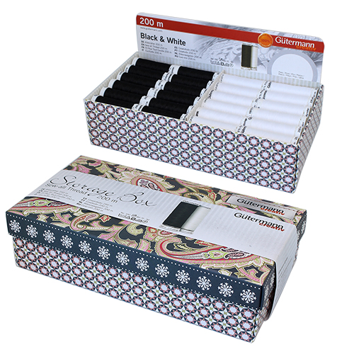799725 Дисплей для швейных нитей (универсальная нить 200м - 72шт/белый, черный цв) 240 x 125 x 65 mm