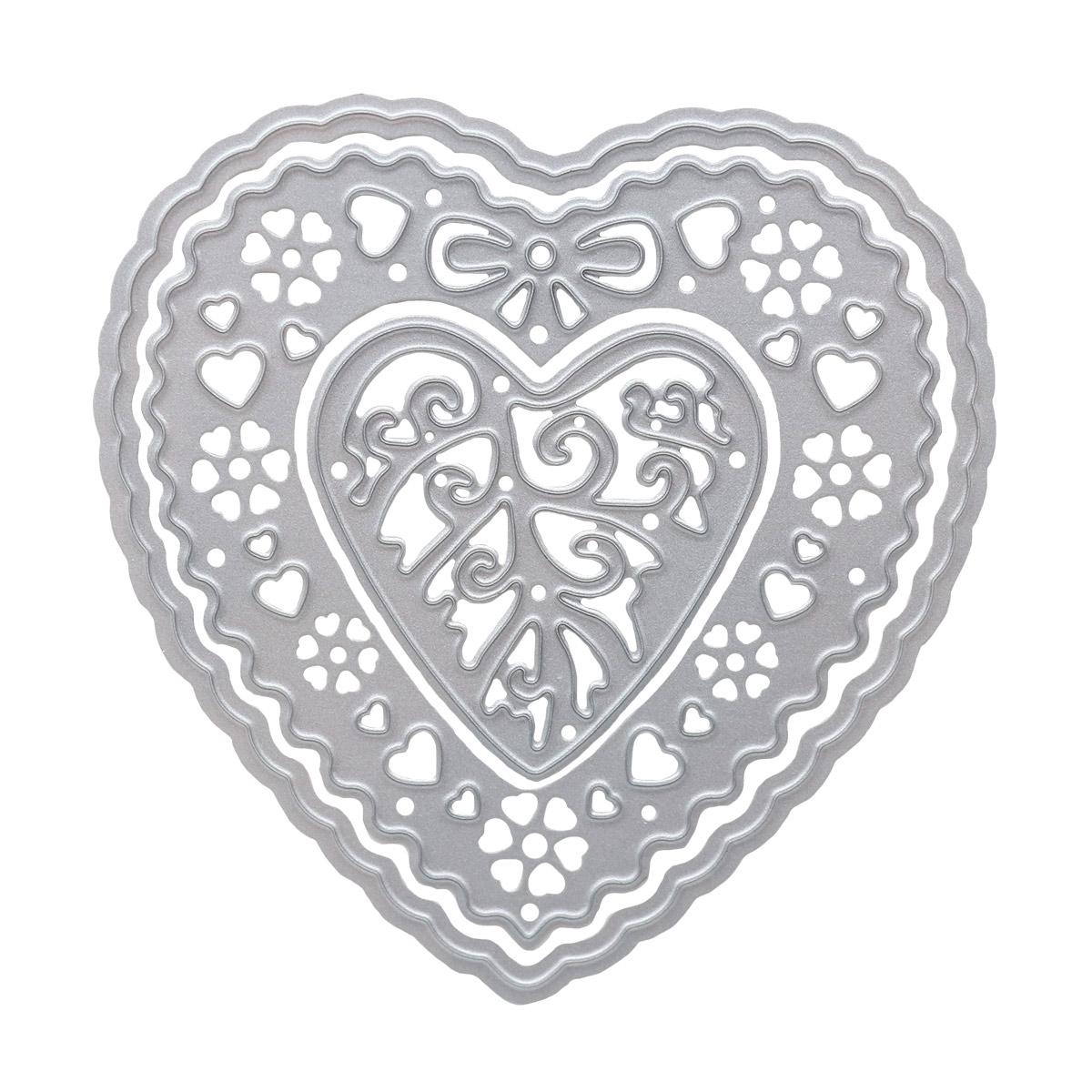861-008-015 Форма для вырубки, Сердце, 78*78мм