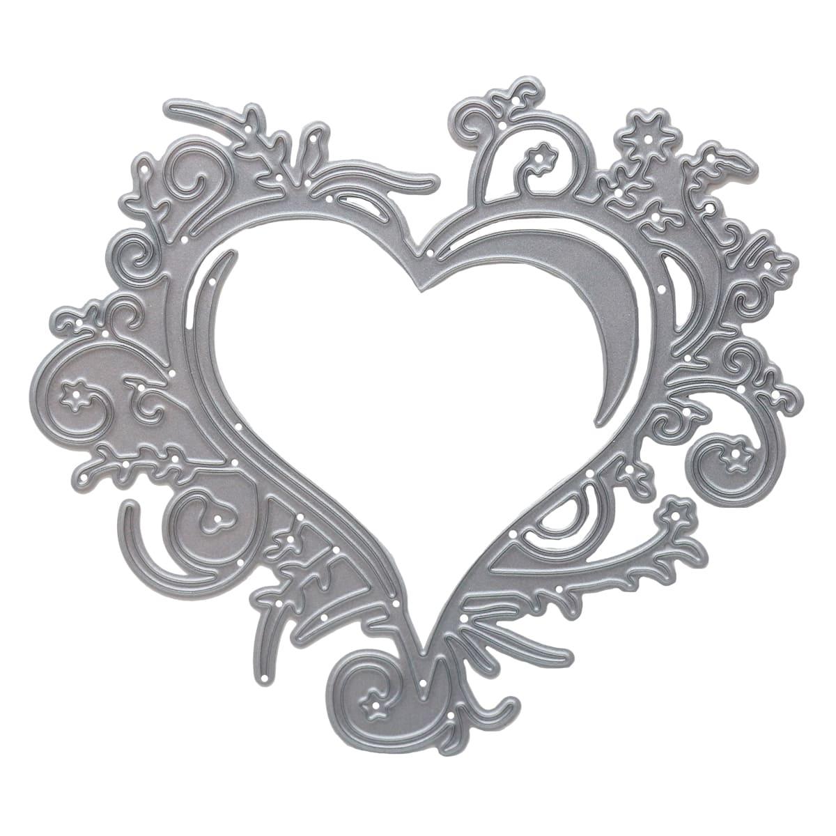 861-010-015 Форма для вырубки, Оплетенное сердце, 100*88мм