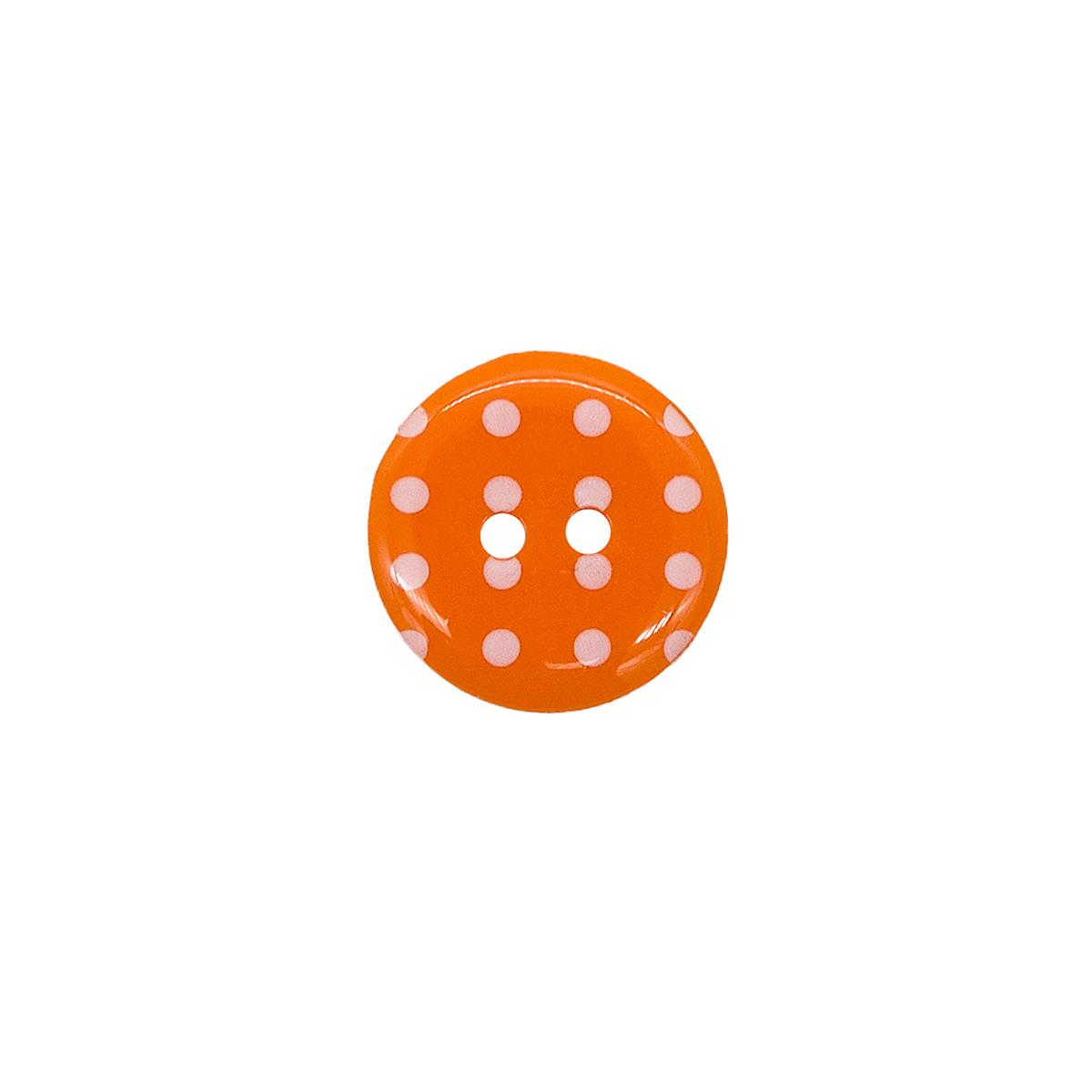 Q7D26-FSS Пуговица, Горошек 28L 24шт (331 оранжевый)