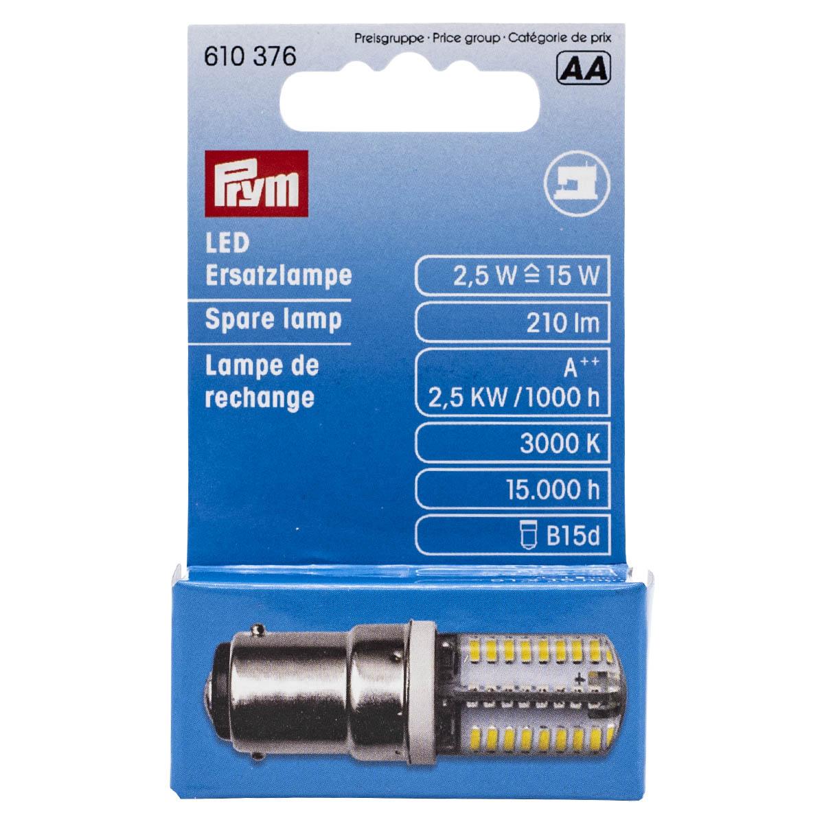 610376 Запасная светодиодная лампа для БШМ штыковое кр., Prym