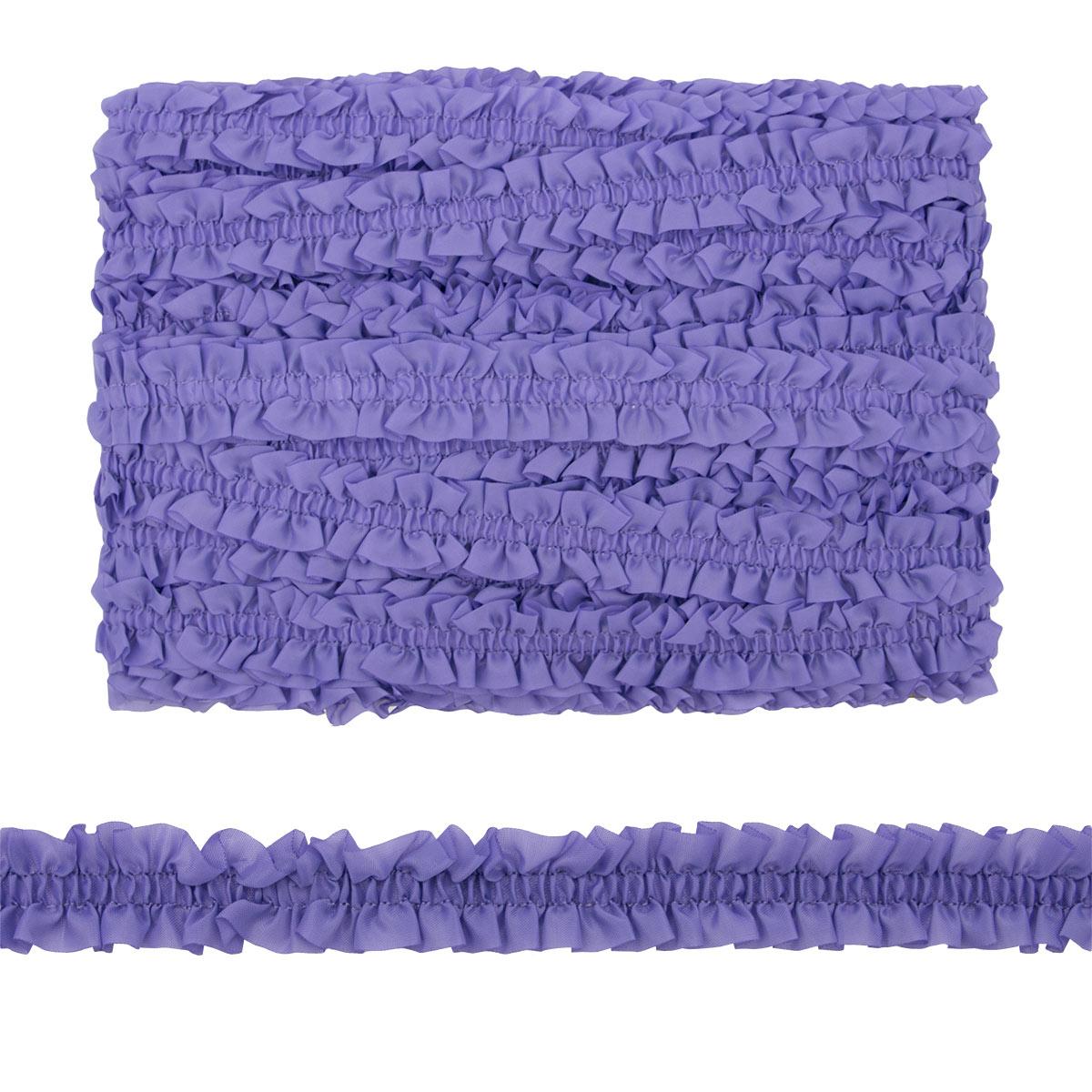 28730 Резинка-рюш 28мм*25м (фиолетовый) фото