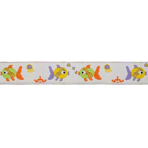 16486 Тесьма жаккардовая 'Рыбки' 16мм*10м