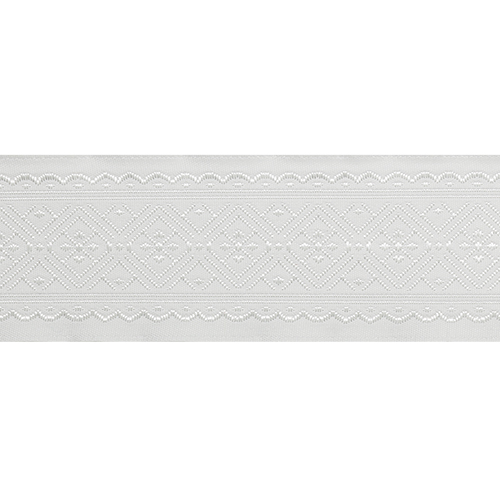 35711 Тесьма отделочная 35мм*10м, бел/серебро