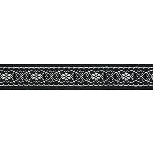 16712 Тесьма жаккардовая 16мм*10м черн/серебро
