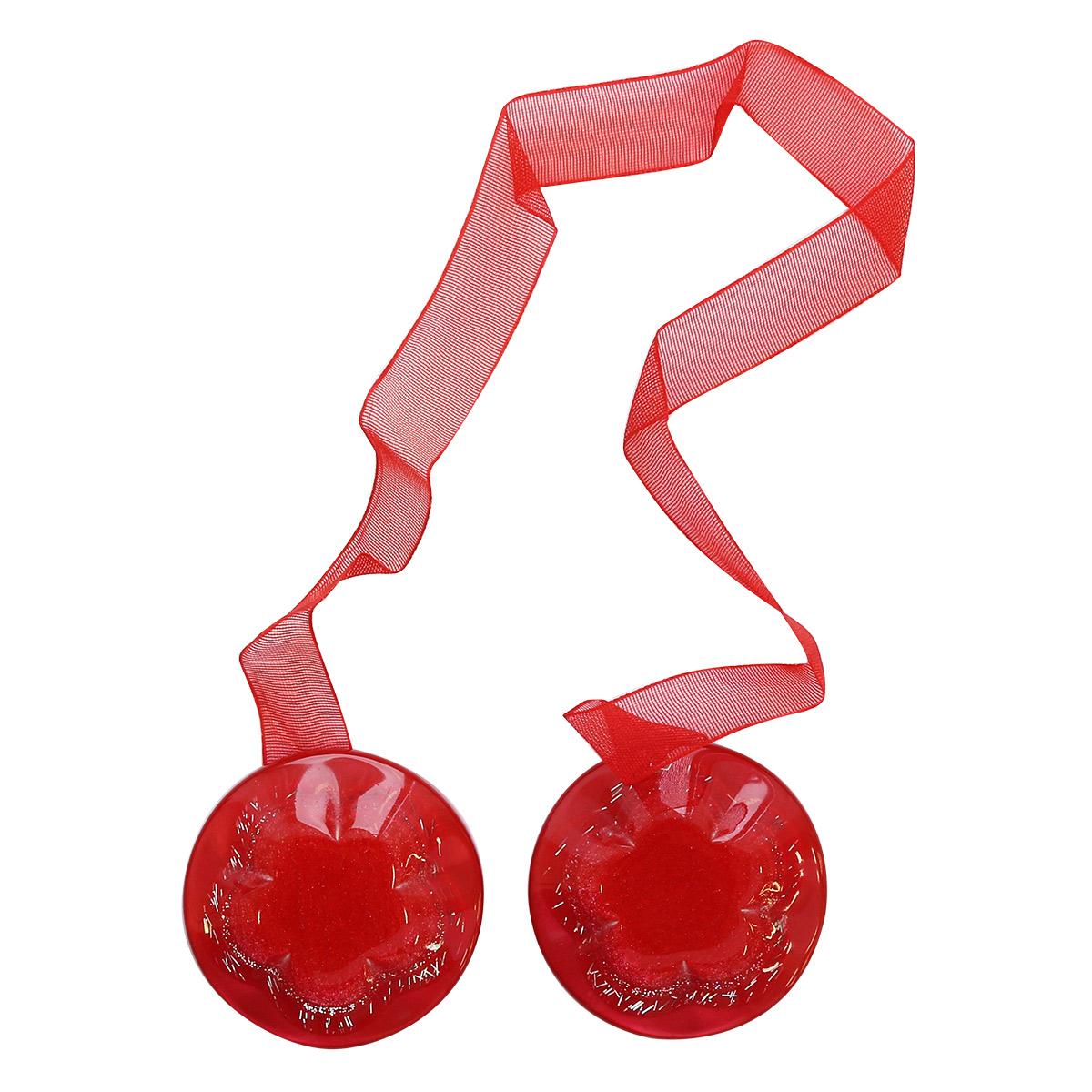 Клипса-магнит для штор круглая с цветком, 1шт/упак