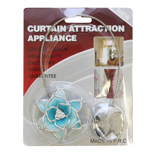 Клипса-магнит для штор цветок, 1шт/упак