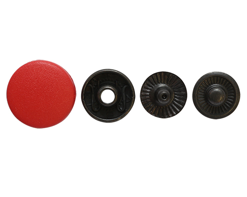 Кнопка курточная пружина, шляпка 15мм, пластик