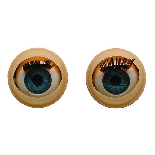 128# Глаза с ресничками, моргающие, 1,28см, 4 шт/упак