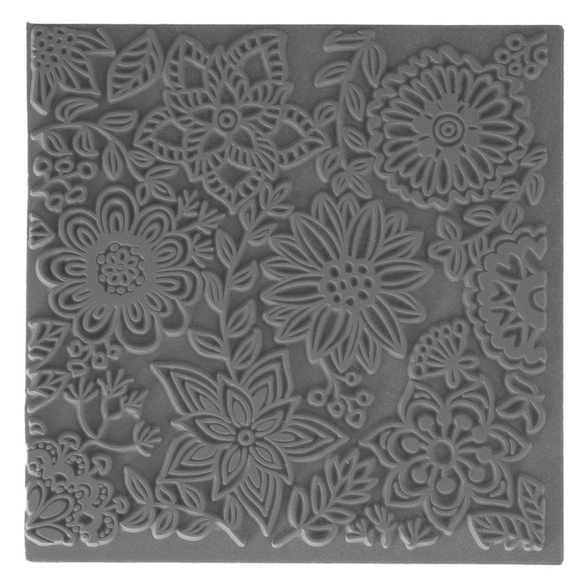 CE95016 Текстура для пластики резиновая 'Бутоны', 9х9 см