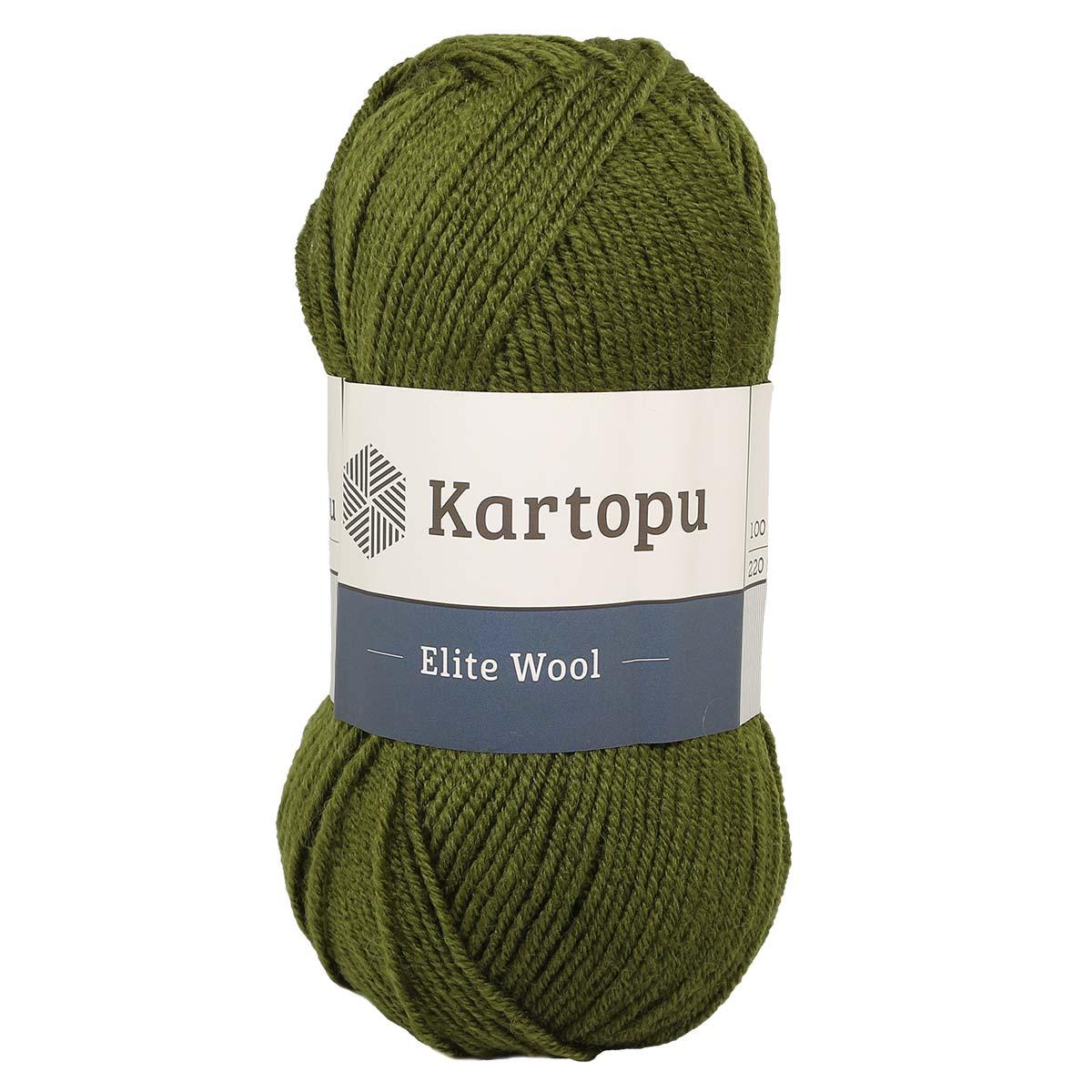 Пряжа 'Elite wool' 100г 220м (49% шерсть, 51% акрил)