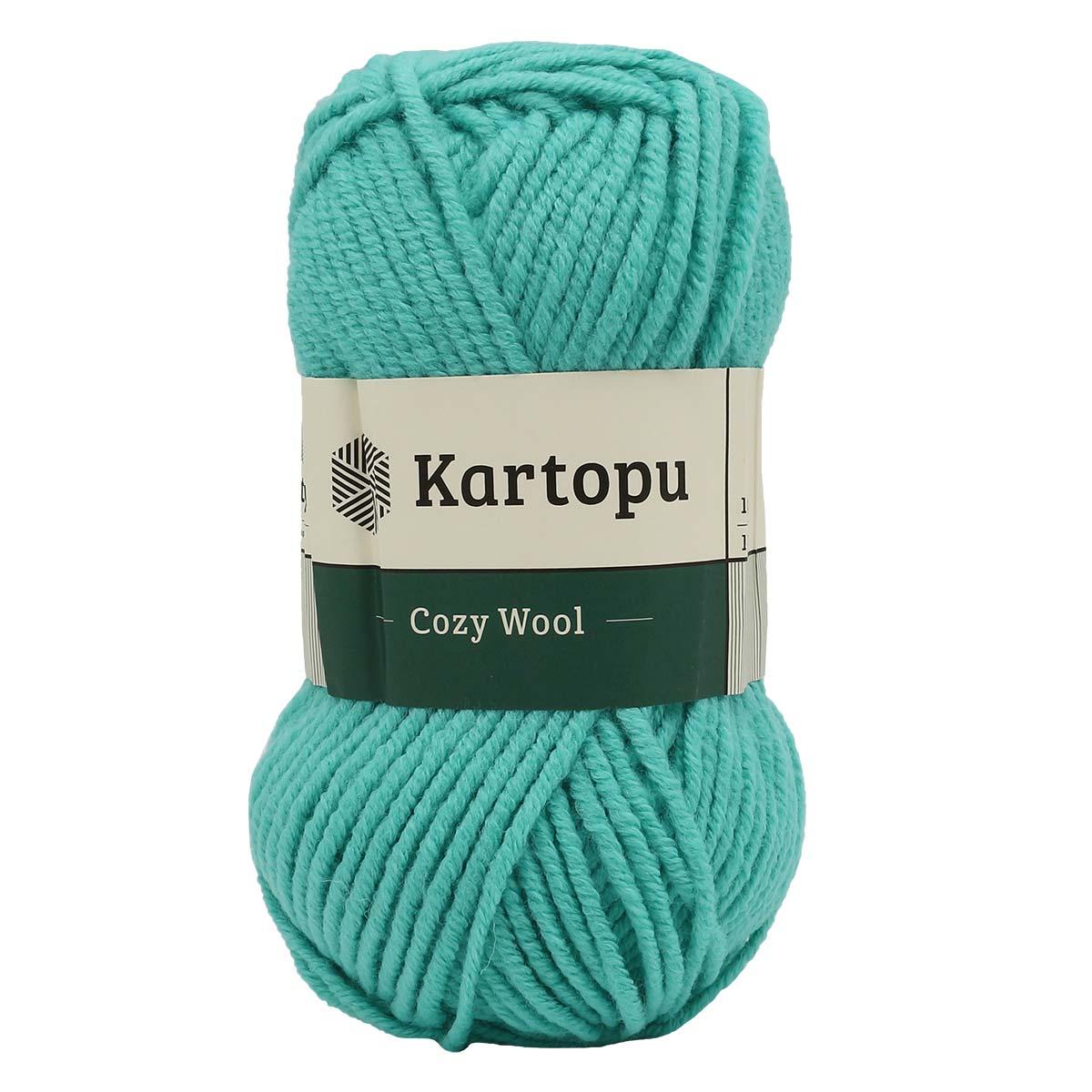 Пряжа KARTOPU 'Cozy Wool' 100г 110м (25% шерсть, 75% акрил)