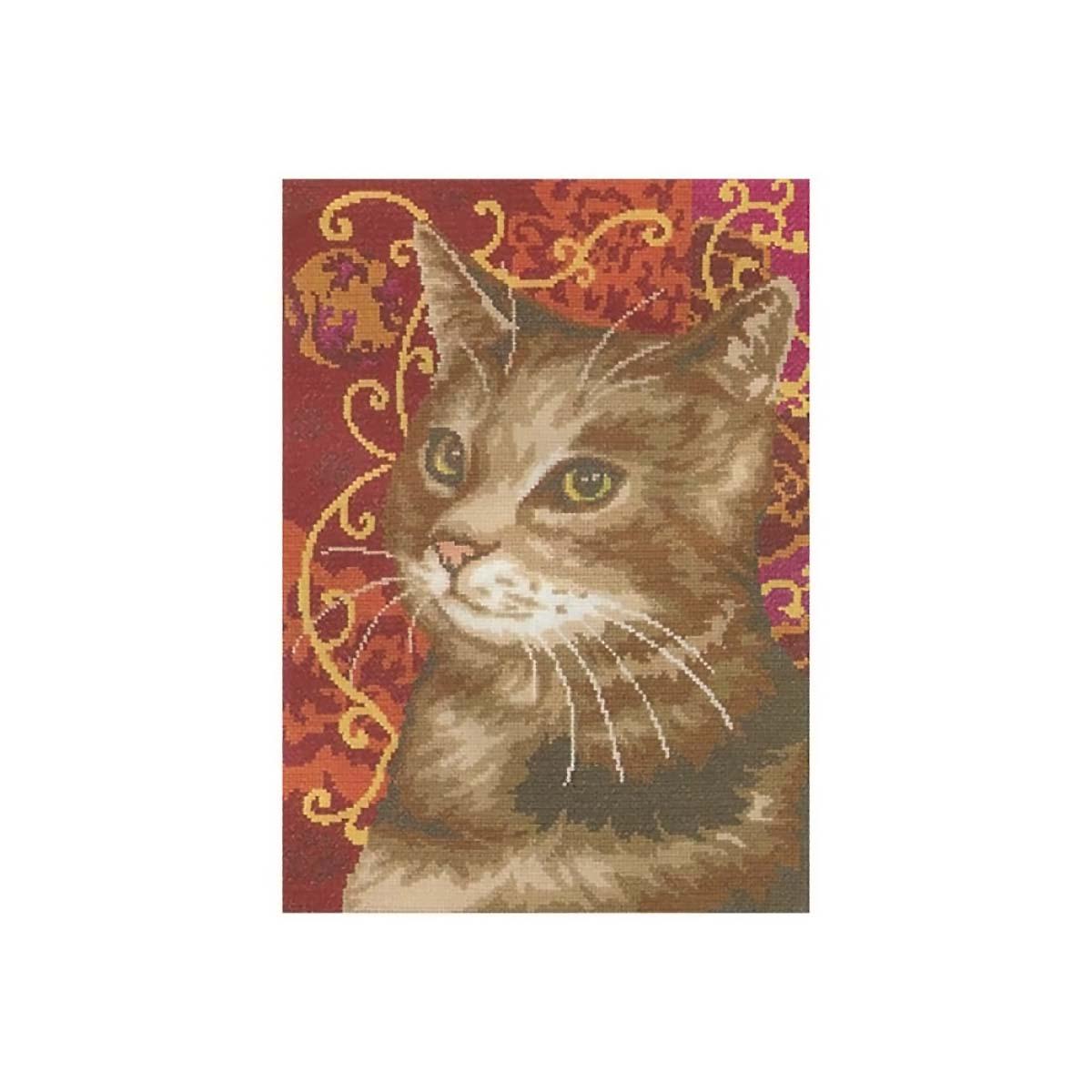 MRMK1974-4546 Набор для вышивания MARGOT 'Кошка' 30*35см