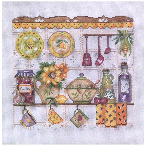 MRMK1983-4989 Набор для вышивания MARGOT 'Этажерка для посуды' 40*40см