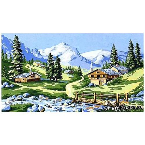 MRC1035-008 Канва с рисунком MARGOT 'Лето в горах' 45*65 см
