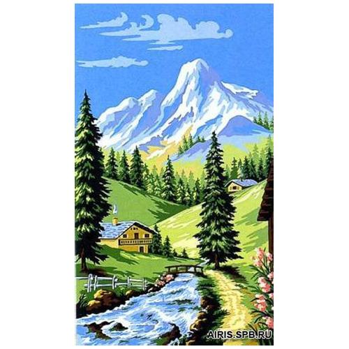 MRC1035-014 Канва с рисунком MARGOT 'Горный пейзаж' 45*65 см
