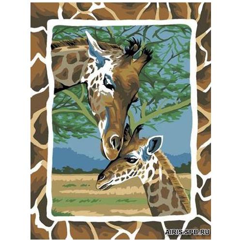 MRC1333-499 Канва с рисунком MARGOT 'Жирафы' 50*65 см
