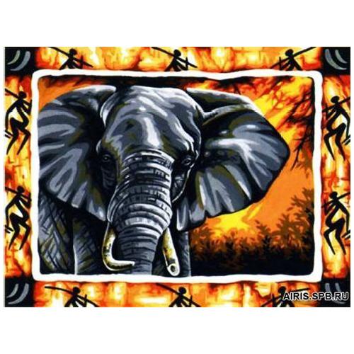 MRC1333-500 Канва с рисунком MARGOT 'Слон' 50*65 см