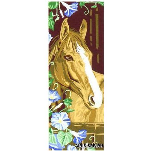 MRC62-206 Канва с рисунком MARGOT 'Конь' 25*60 см