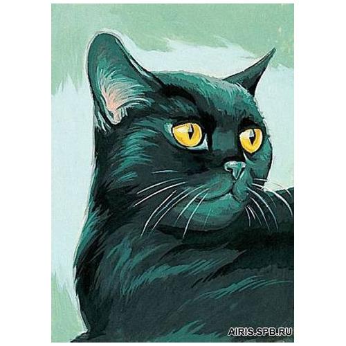 MRC722-070 Канва с рисунком MARGOT 'Черный кот' 30*40 см