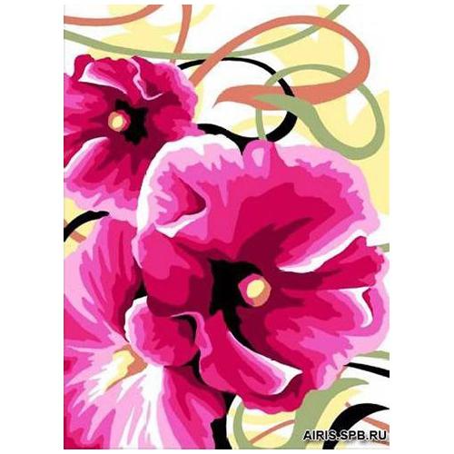 MRC722-306 Канва с рисунком MARGOT 'Розовые цветы' 30*40 см