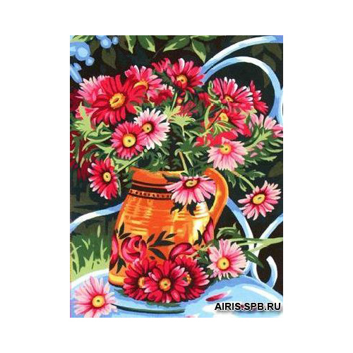 MRC1531-356 Канва с рисунком MARGOT 'Хризантемы' 40*50 см