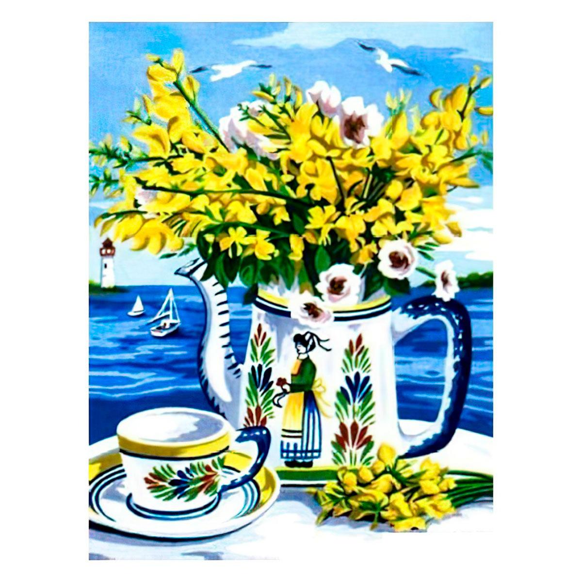 MRC1531-367 Канва с рисунком MARGOT 'Желтый букет' 40*50 см