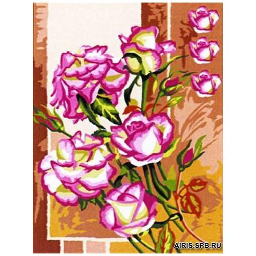 MRC1531-393 Канва с рисунком MARGOT 'Розы' 40*50 см