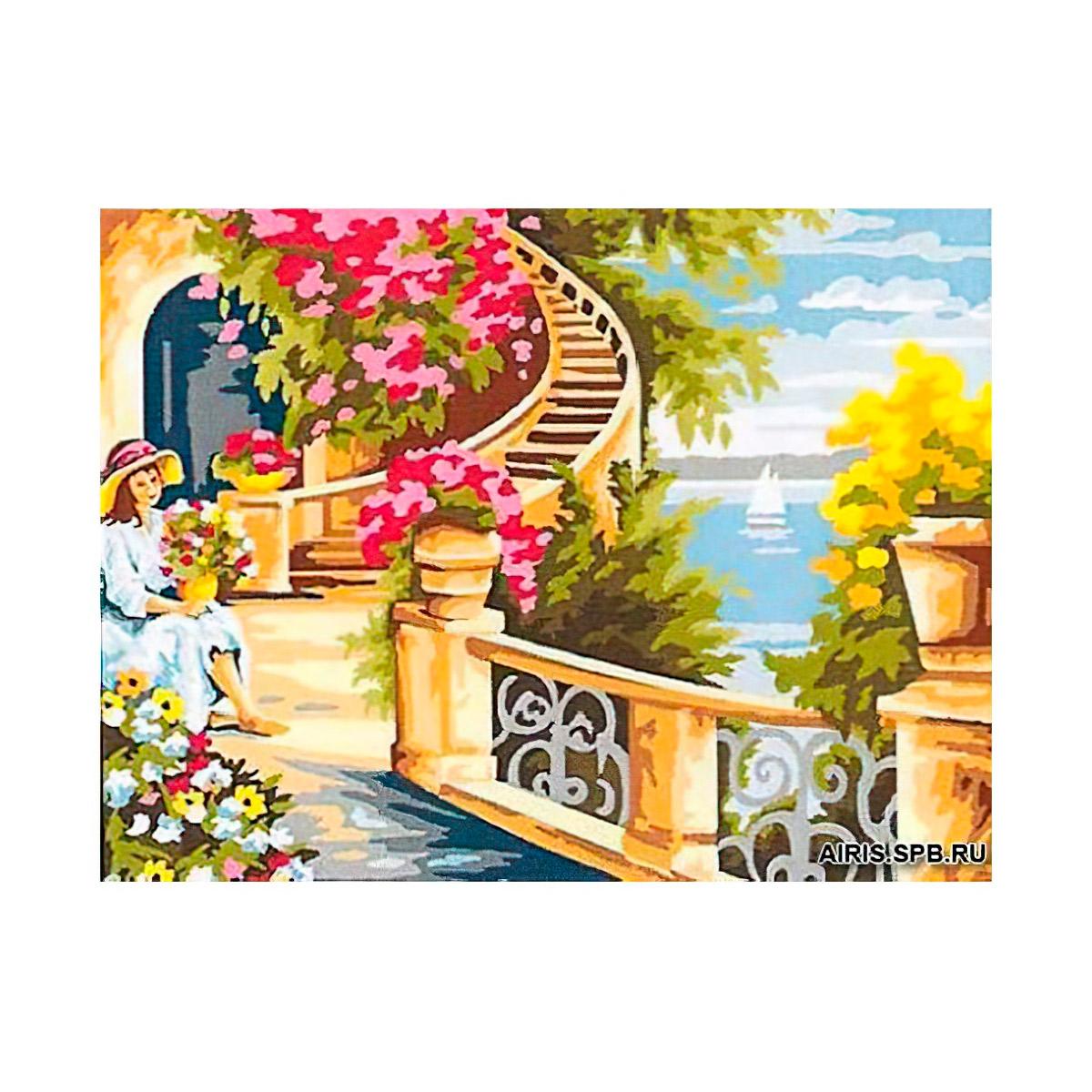 MRC1531-401 Канва с рисунком MARGOT 'Лестница' 40*50 см