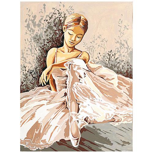 SE926-17 Канва с рисунком SEG de Paris 'Балерина' 40*50 см