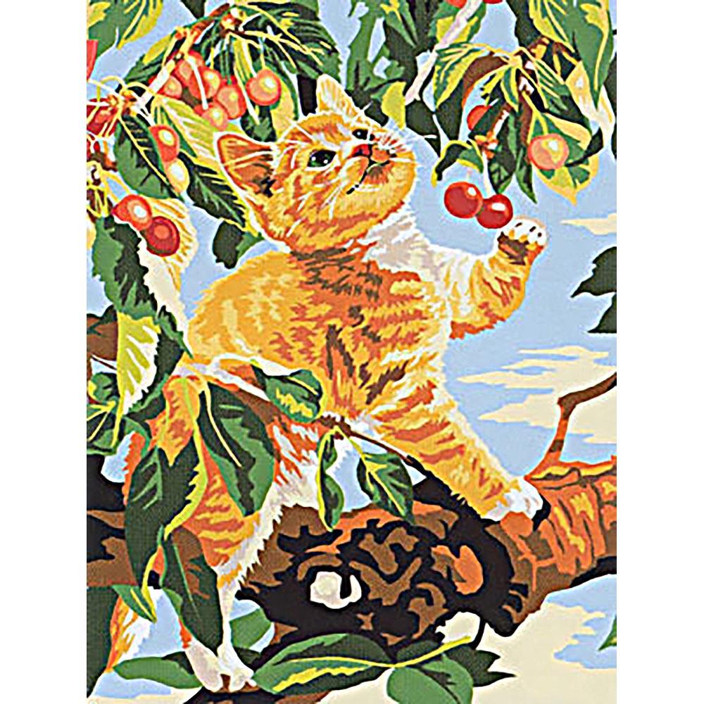 SE926-236 Канва с рисунком SEG de Paris 'Сбор вишни' 40*50 см