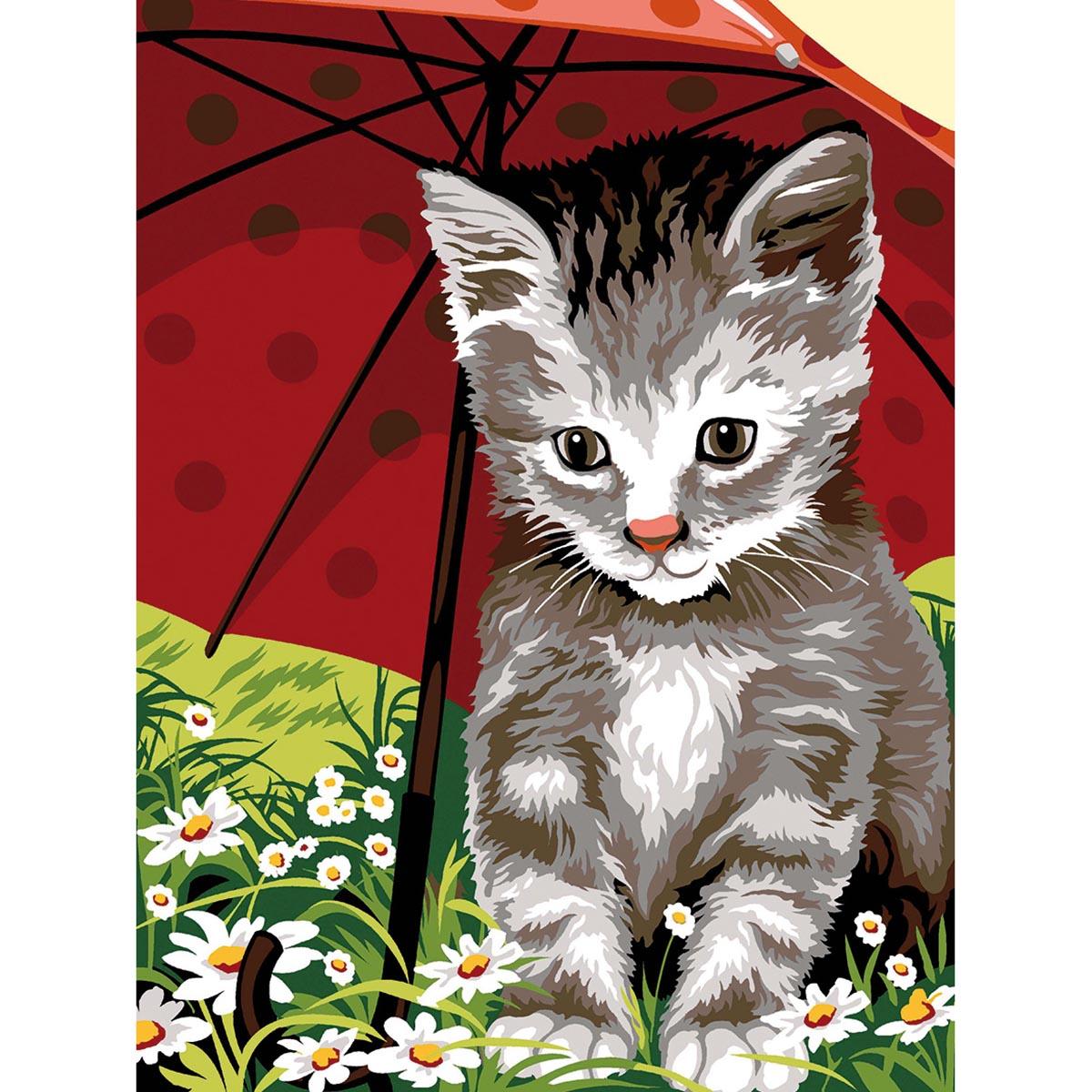 SE926-270 Канва с рисунком SEG de Paris 'Под зонтом' 40*50 см