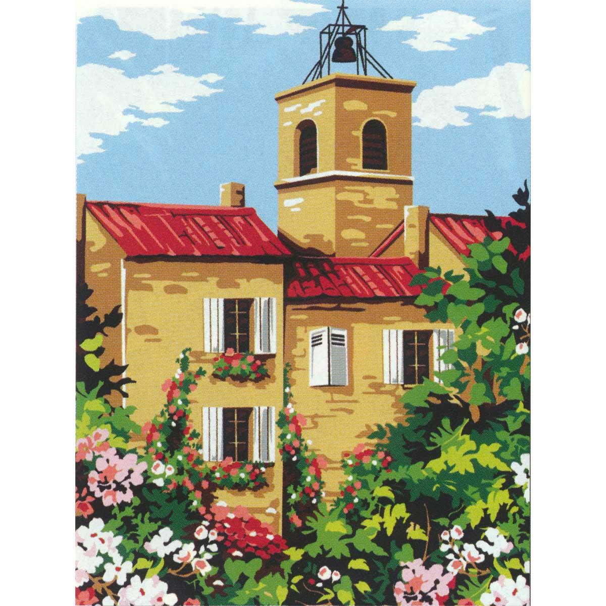 SE926-272 Канва с рисунком SEG de Paris 'Колокольня' 40*50 см