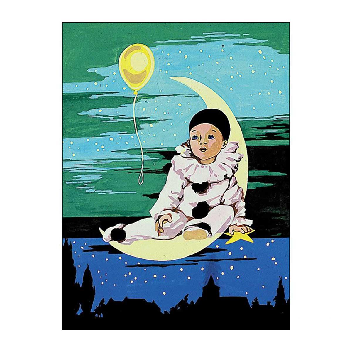 SE926-45 Канва с рисунком SEG de Paris 'Воздушный шар' 40*50 см