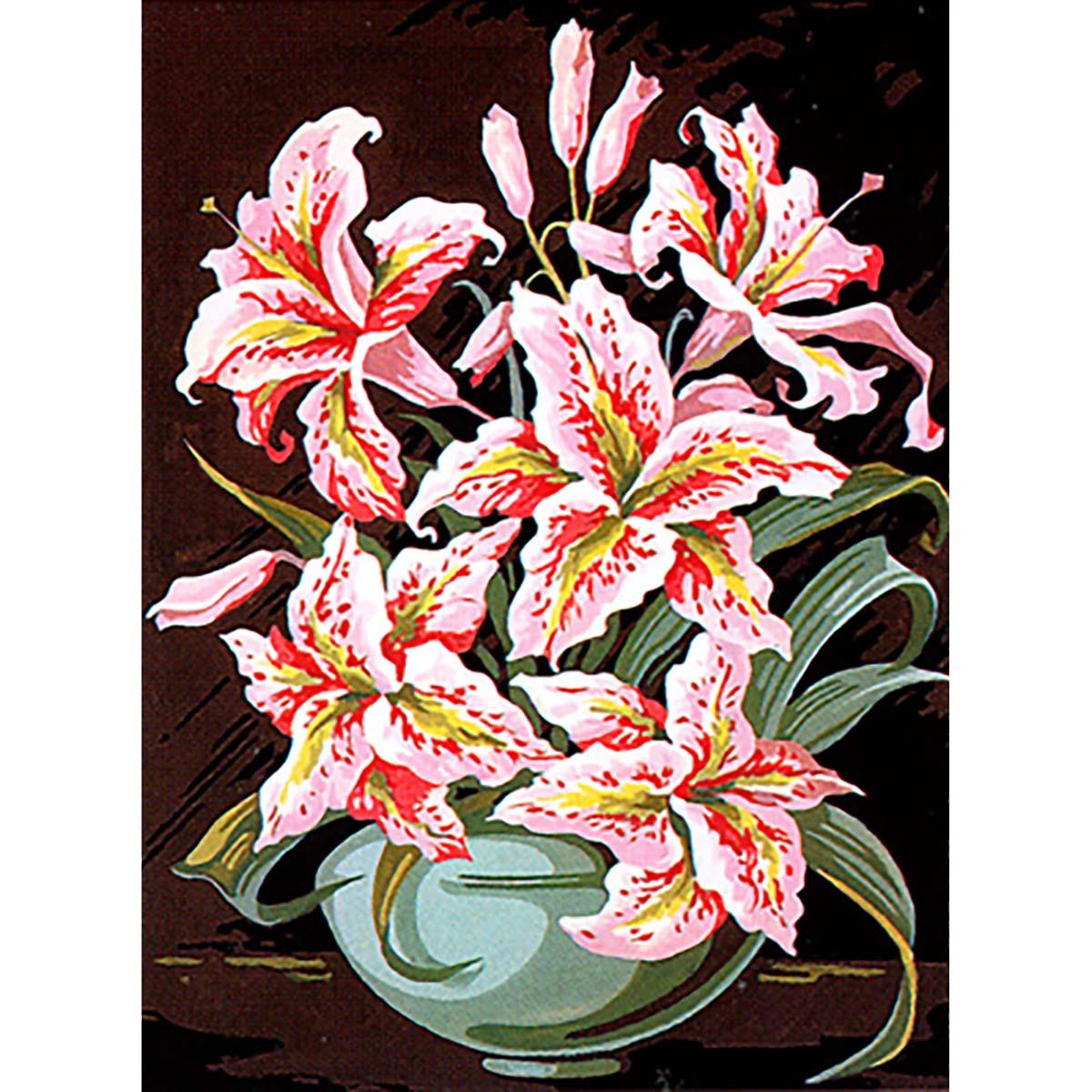 SE926-61 Канва с рисунком SEG de Paris 'Тигровые лилии' 40*50 см