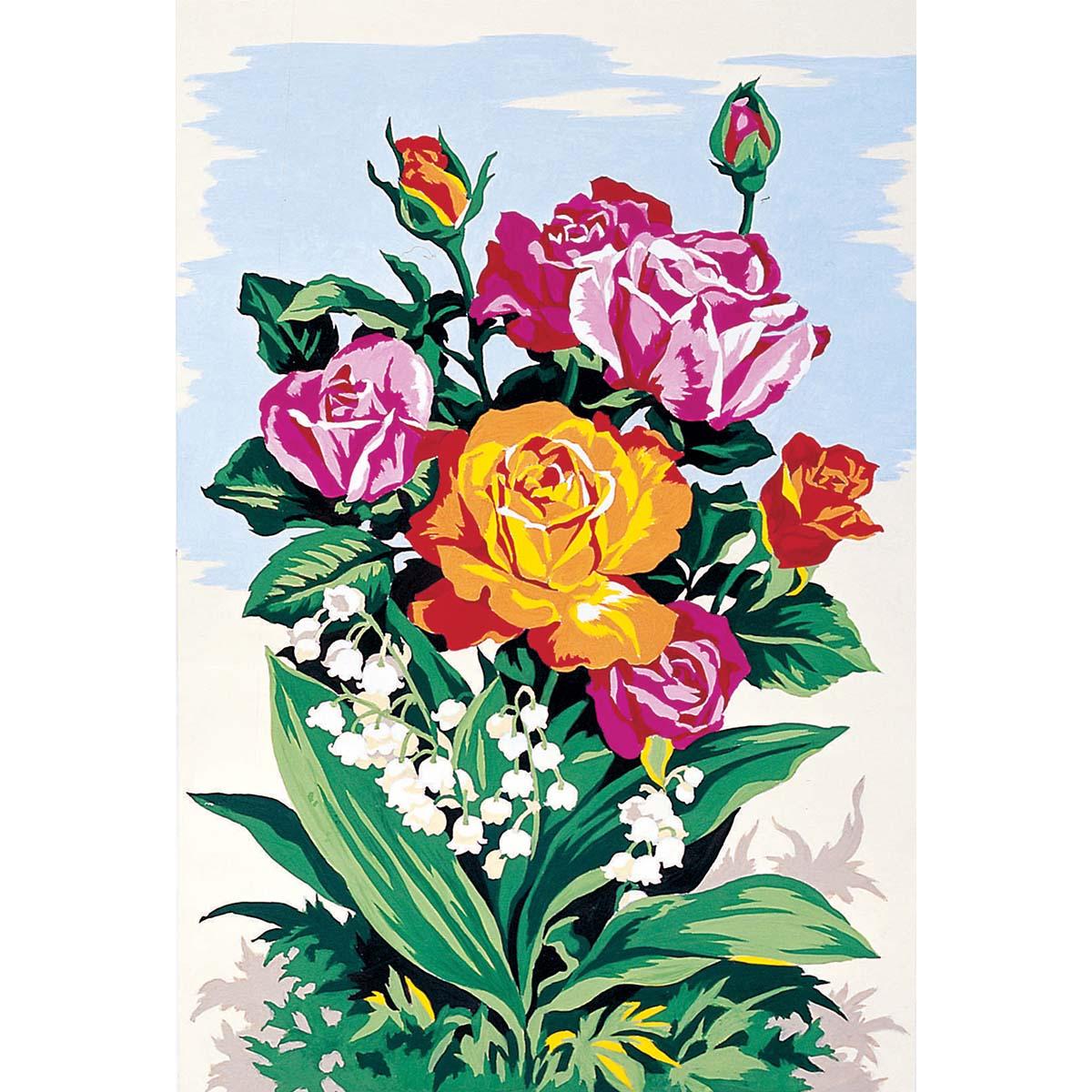 SE928-225 Канва с рисунком SEG de Paris 'Букет роз' 30*40 см