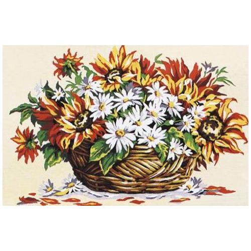 SE928-252 Канва с рисунком SEG de Paris 'Солнечные цветы' 30*40 см