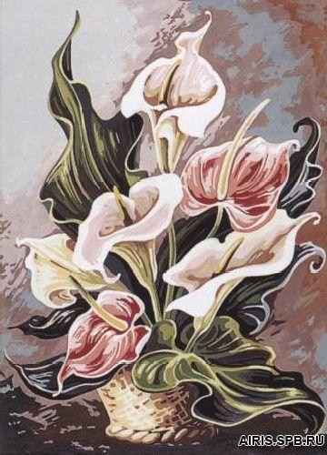 SE929-188 Канва с рисунком SEG de Paris 'Гармония розы' 45*60 см