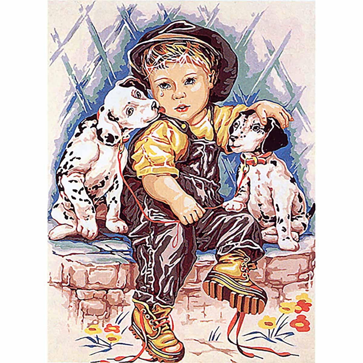 SE929-278 Канва с рисунком SEG de Paris 'Долматинцы' 45*60 см