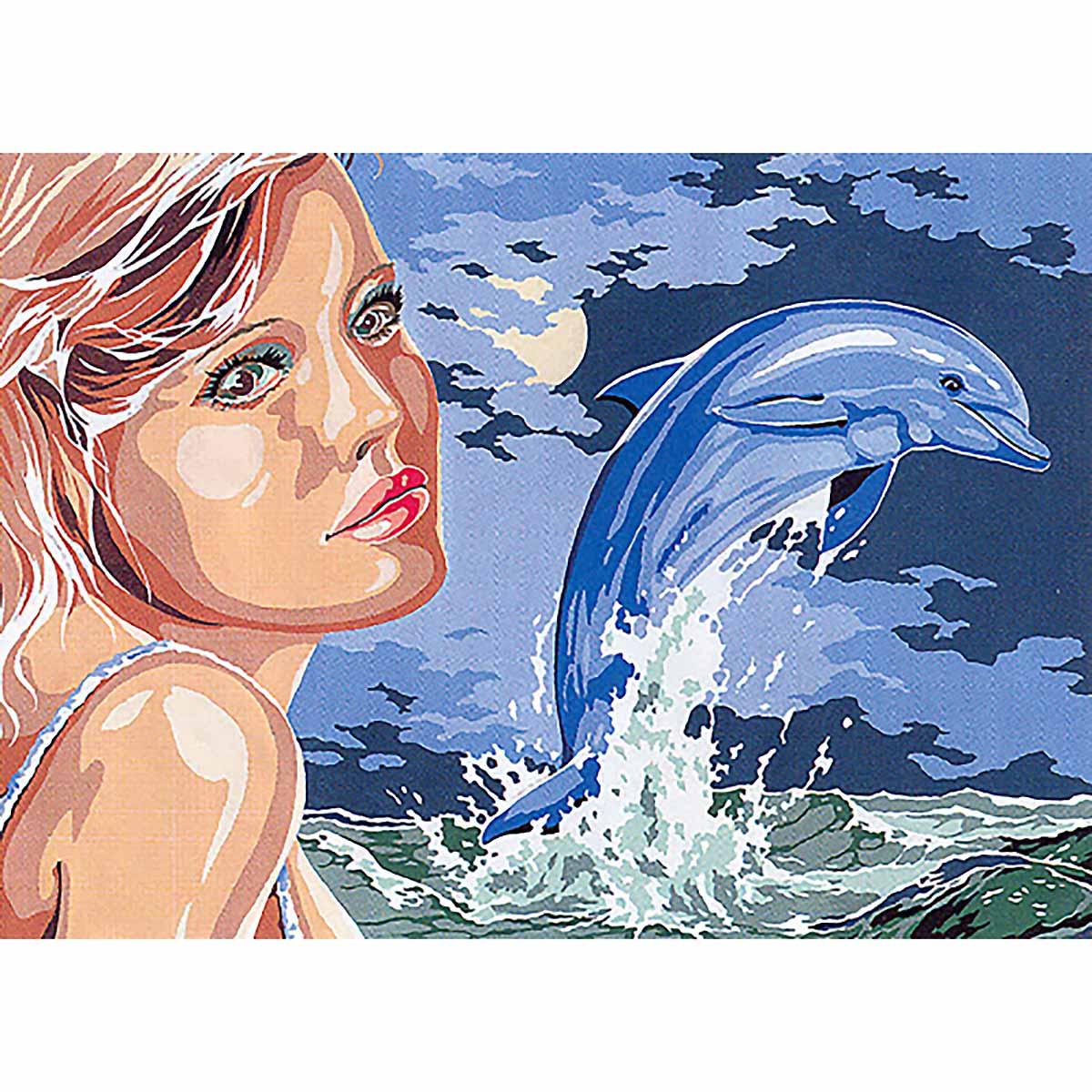 SE929-359 Канва с рисунком SEG de Paris 'Морские мечты' 45*60 см