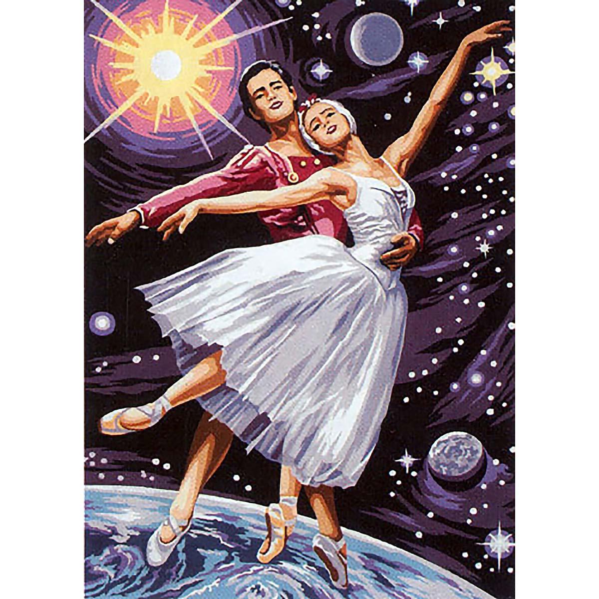 SE929-384 Канва с рисунком SEG de Paris 'Звездный танец' 45*60 см