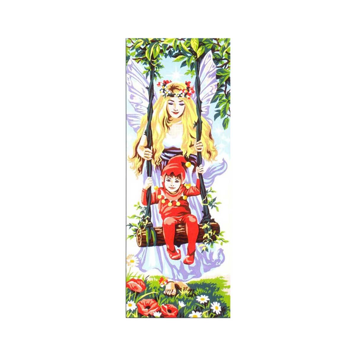 SE950-100 Канва с рисунком SEG de Paris 'Фея и шалун' 25*60 см