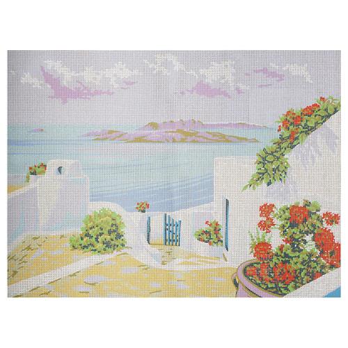 226 Канва с рисунком 'Берег моря' 45*60 см