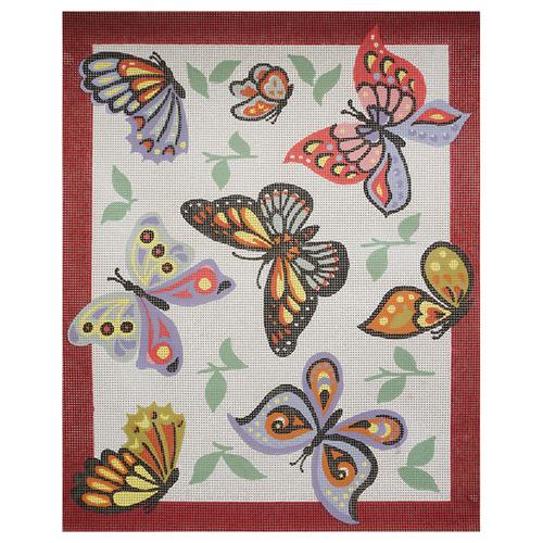 14809 Канва с рисунком 'Бабочки' 50*60 см