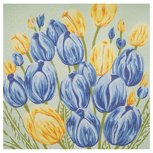 46379 Канва с рисунком 'Тюльпаны' 50*50 см
