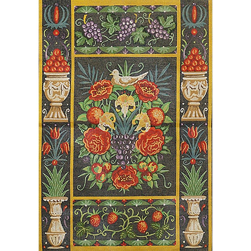 МС526 Канва с рисунком 'Цветы и фрукты' 65*45,5 см