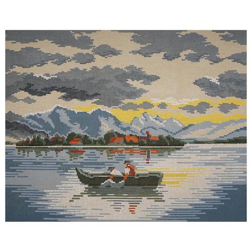 Канва с рисунком 'Рыбалка' 40*50 см